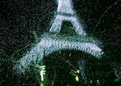 Eiffel on fire (Paris)