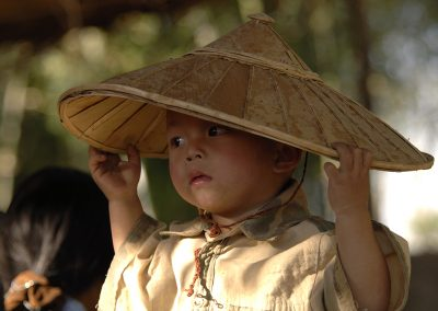 The little boy and his hat (Burma)
